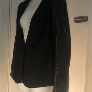 Black Jacket Mossimo with leather sleeves